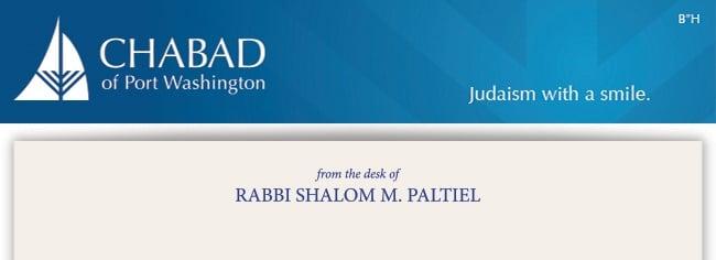 from the desk of Rabbi Shalom M. Paltiel